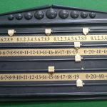 Snooker score board plastic